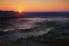 Vue depuis Vézelay, par Mike Long