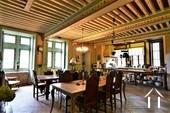 Château XIIIe - XIXe siècle Ref # JP5016S image 3 Salle à manger avec plafond à la française peint