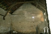 Inside on of the barns