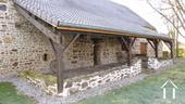 Belle longère rénovée près de Gueugnon Ref # DF4916C image 13 Overkapte terras achterzijde