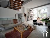 Charmante maison du XIXe et grange aménagée avec vue Ref # RT5076P image 5 salon 1et étage