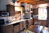 fully equipped hand made kitchen