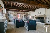 Grande maison familiale avec piscine et gîtes Ref # BH5084M image 3 large character living room with stone fire place