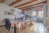 Grande maison familiale avec piscine et gîtes Ref # BH5084M image 15 day dining area in large kitchen