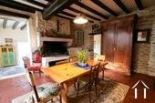 Maison de caractère avec vue sur le Morvan Ref # CR5086BS image 1 Kitchen with open fire