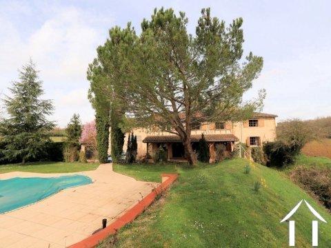 Beau moulin, bien rénové, sur 1 hectare avec piscine. Ref # EL4726