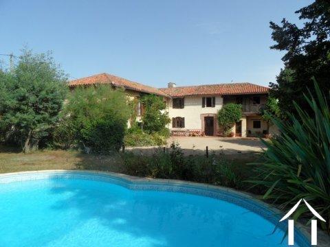 Jolie ferme Gasconne avec piscine et gîte Ref # lbd439