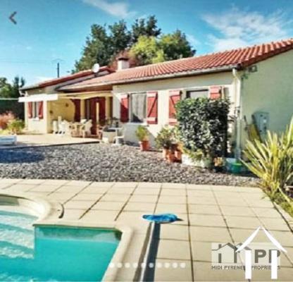 Maison indépendante 116m2 avec piscine et garage 54m2 sur un joli jardin paysager 2500m2 Ref # MPMP2001