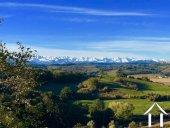 Fermette avec gîte et dépendances sur un terrain de 2ha et magnifique vue sur les Pyrénées. Ref # MP9050 image 67