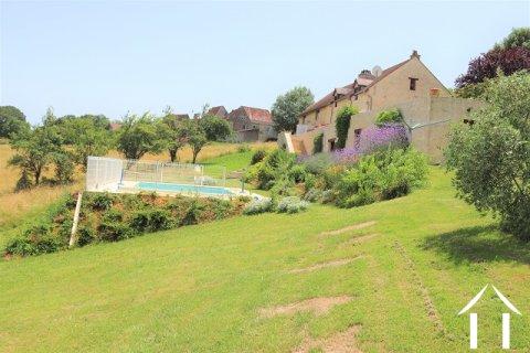 Grange en pierres aménagée sur 3600m2 de jardin avec piscine Ref # MPLS1006