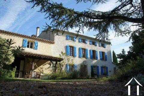 Groot Maison de Maitre met 9 slaapkamers (472m2) met zwembad, grote tuinen (13608m2) en een prachtig uitzicht over het landschap Ref # MPOP0020 Image principale